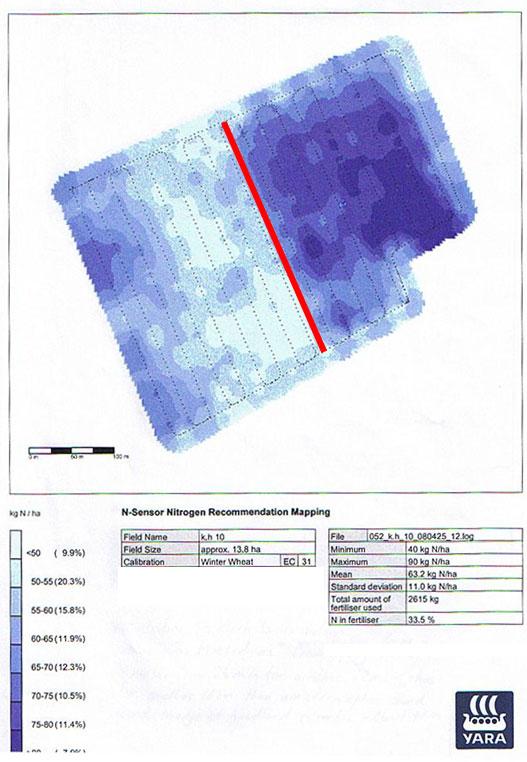 N Sensor Nitrogen Recommendation Map
