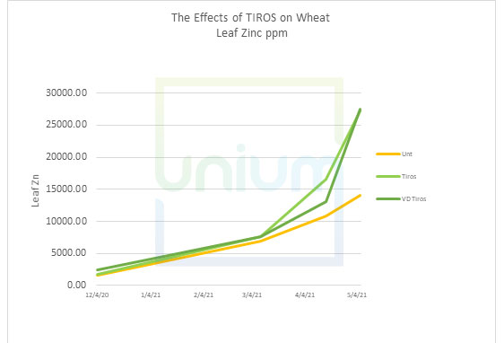 The Effects of TIROS on Winter Wheat Leaf Molybdenum ppm
